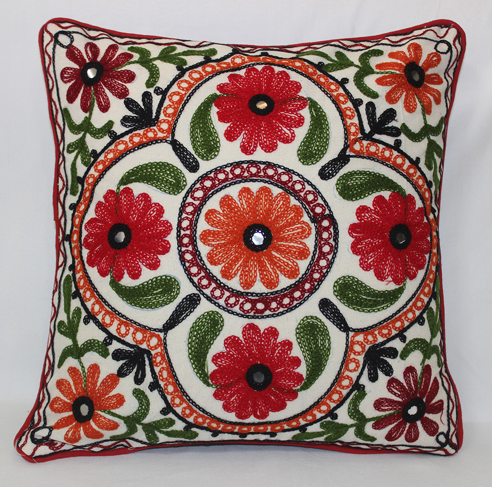 Embrodered Cushion Cover