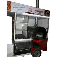 Pizza Cart On E - Rickshaw