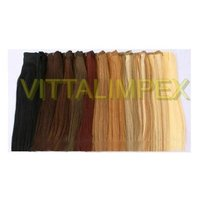 Colored Machine weft Hairs