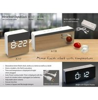 MIRROR FINISH DIGITAL CLOCK (SQUARE) WITH DUAL POWER OPTION