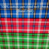 Shirting Yarn Dyed Twill Check (Basil Mill) 58''