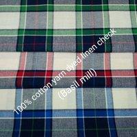 Shirting Yarn Dyed Linen Check (Basil Mill) 568