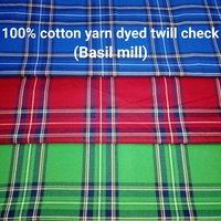 Shirting Yarn Dyed Twill Check (Basil Mill) 58'
