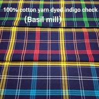 Shirting Yarn Dyed Indigo Check 58