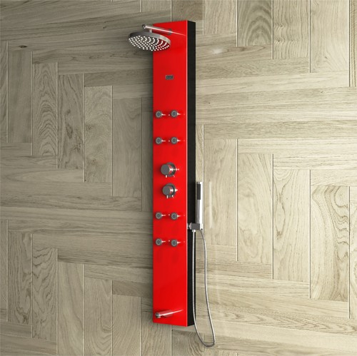 OLIVE RED - Shower Panel