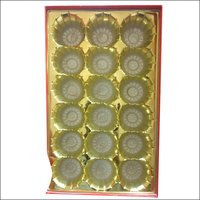 Golden Sweet Tray (18 Laddoo Tray)