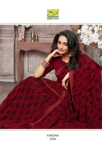 Indian Designer Border Saree