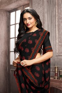 Casual Designer Border Saree