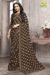 Indian Designer Printed Saree