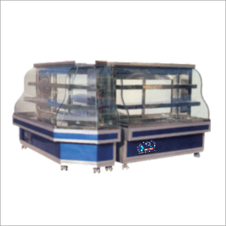 Display Counter With M Type Glass