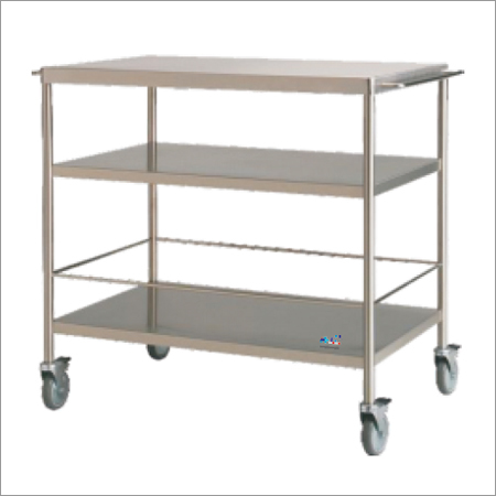 SS Trolley With 3 Shelves