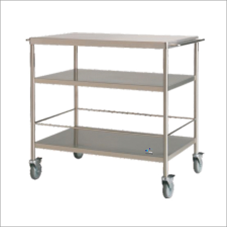 SS Trolley With 3 Shelves1