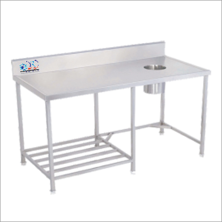 SS Table With Garbage Chute
