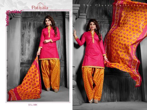 Pink Patiyala Dress Material