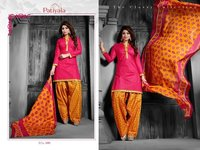 Pink Patiyala Dress Material