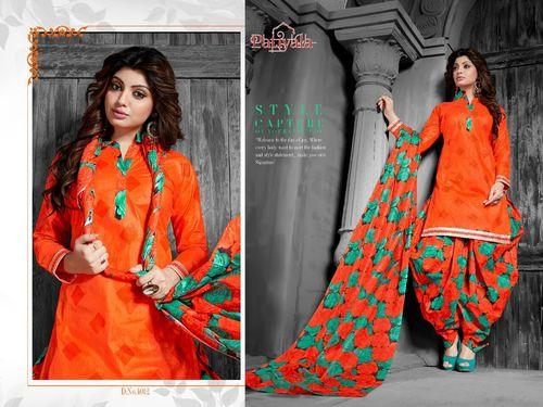 Latest Patiyala Dress With printed Dupatta