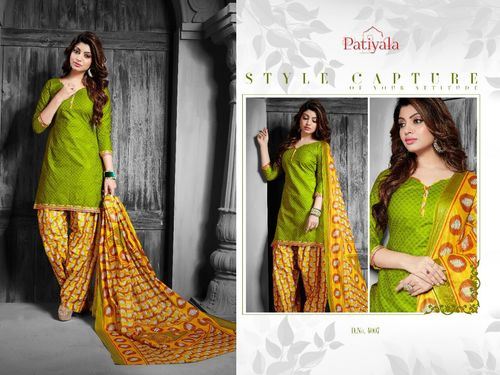Beautiful Cotton Patiyala Dress Material