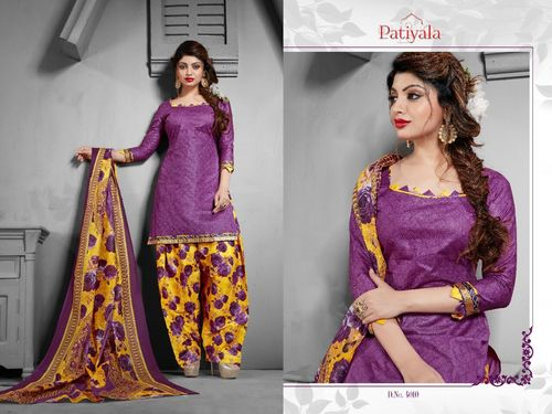 Patiala Printed Cotton Dress Material