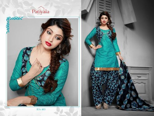 100%% cotton patiala dress Material