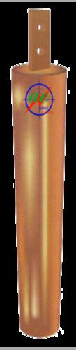 Copper pipe-in-strip earthing electrode