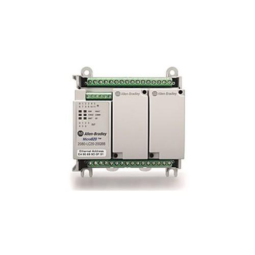 Micro 820 PLC 2080-LC20-20AWB 12DI 8DO 120VAC