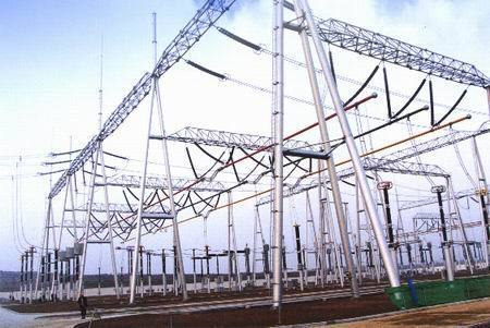 11 KV Galvanized Substation Steel Structure
