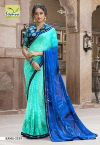Indian Fancy Border Saree