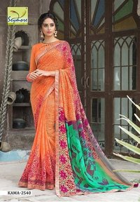 Party Wear Border Saree
