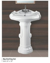 Big Sterling Wash Basin Set