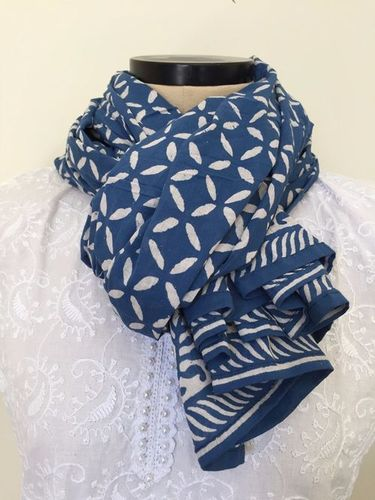 Cotton Indigo Print Sacrves