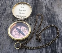 Nautical Brass Working Compass With Chain