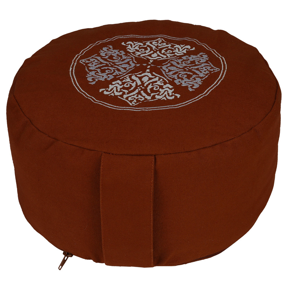 High quality Non pleated top embroidery Zafu Cushion