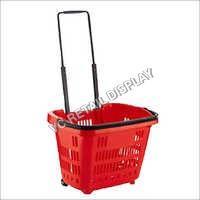 Two Wheel Plastic Shopping Trolley