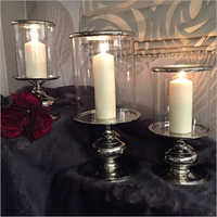 Candle Holders with Glass Cover