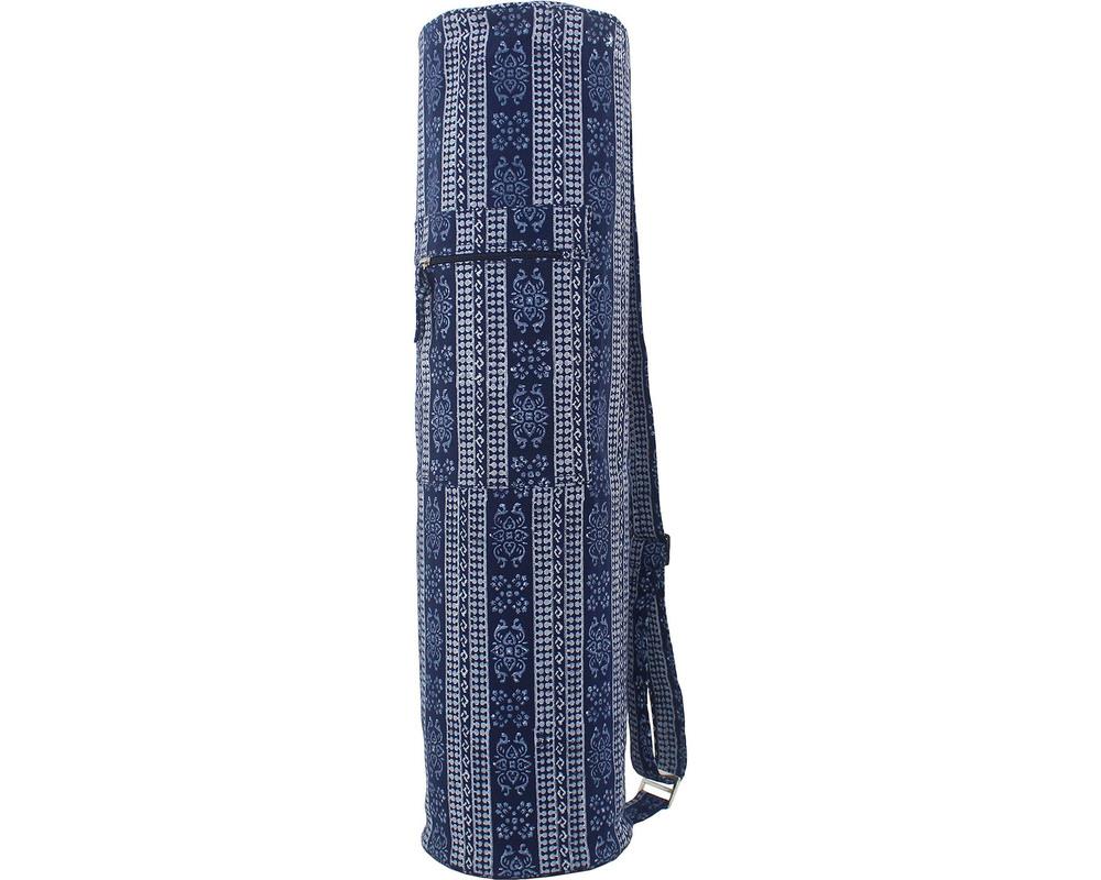 Full Block Printed Mat Bag- Navy Blue