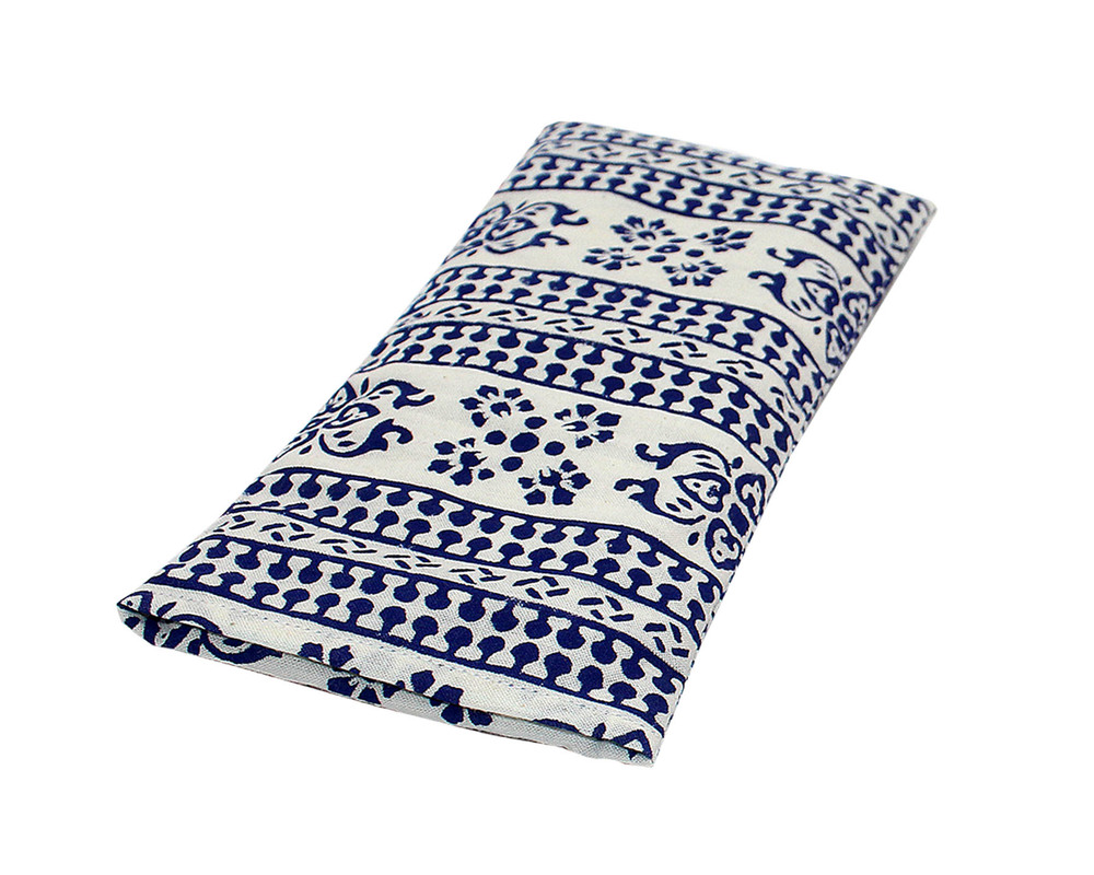 Block Printed Eye Pillow