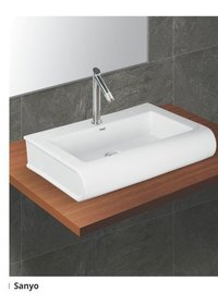 White Sanyo Table Top Wash Basin