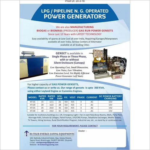 LPG Power Genset
