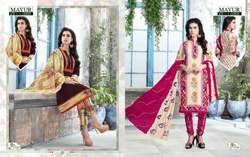 Cotton Printed Dress Material Mayur khushi vol37