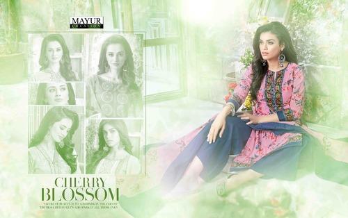 Ocation wear mayur khushi vol37 dress material