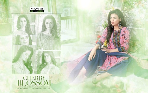 Ocation wear mayur khushi vol37 dress material