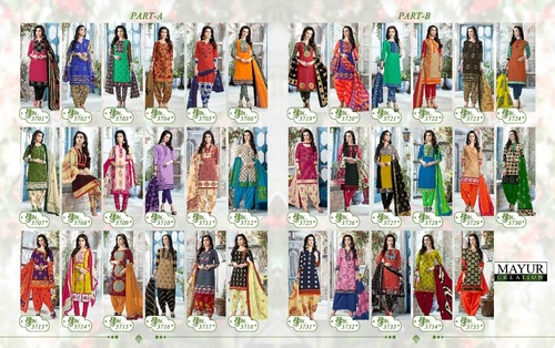 Multi color Dress Material Collection