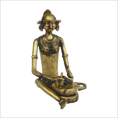 Antique Brass Tribal Sculptures