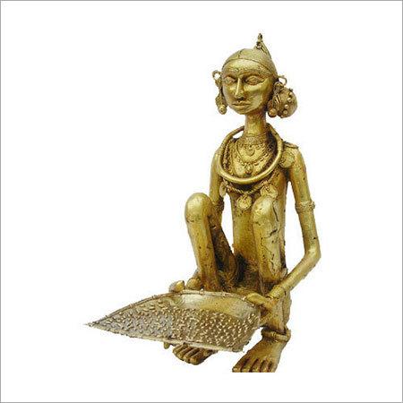 Golden Brass Tribal Sculptures