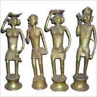 Brass Tribal Sculptures