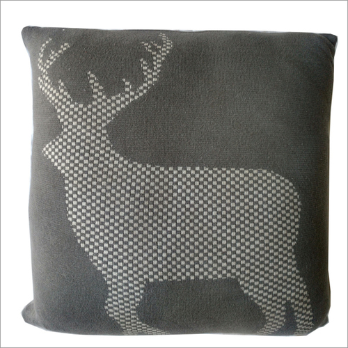 Knitted Printed Cushion Cover