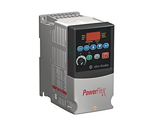 PowerFlex4 (22A-B2P3F104) AC Drive, 240 (208)VAC, 3PH, 2.3 Amps, 0.37 kW, 0.5 HP,