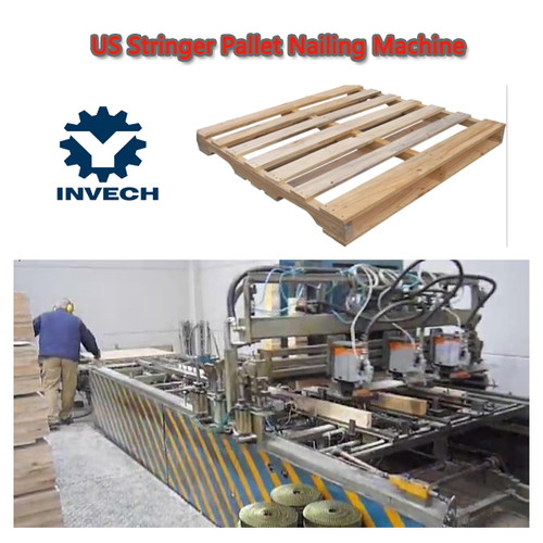 Semi-automatic Wooden Pallet Nailing Line