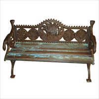 Cast Iron Beanch With Wooden Seat