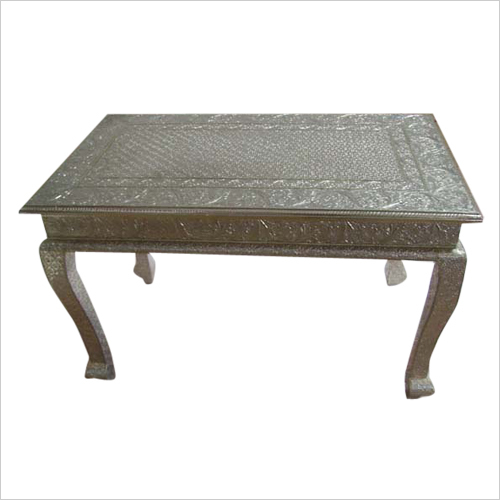White Metal Fitted Table